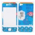 Decorativas protetora frente + traseira cobrir Skin adesivo para iPhone 4 - Cute Cartoon ostentar padrão