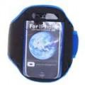 Braçadeira do esporte para o iPhone 3G/3GS - azul + preto