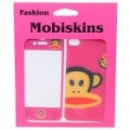 Elegante Cartoon Monkey caso pele cobrir vinhetas estilo para iPhone 4 - Pink