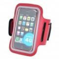 Desportivo Armband para iPhone 4 - preto + vermelho