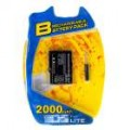 2000mAh Pack de bateria de lítio recarregável para NDS Lite com chave de fenda
