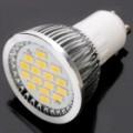 GU10 480-530LM saída 16-SMD LED quente branco lâmpada (6.4W / AC220V)