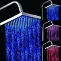 8 polegadas LED Color Changing Praça Showerhead