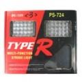 Tipo-R azul e vermelho luz estroboscópica de aviso para todos os veículos (40-LED)