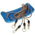 PE Swing assento c / corda de cânhamo (azul)