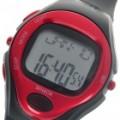 Digital pulso taxa calorias Counter Timer relógio com alarme - preto + vermelho (1 * CR2032)