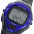 Digital pulso taxa calorias Counter Timer relógio com alarme - violeta azulado + preto (1 * CR2032)