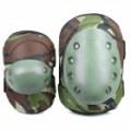 Ao ar livre jogo War Guerra cotovelo / joelho protetores protetores conjunto - camuflagem verde