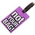 Seguro viagem etiqueta de bagagem mala ID - não seu saco! (Roxo)