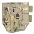 Ao ar livre jogo de guerra militar Gun pistola coldre - cor aleatória