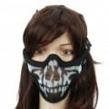 Cool melhor Design exterior boca proteção Mesh Metal Shield - preto + branco