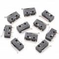 0,5 A DIY 125V / 250V Micro alternar - preto (Pack de 10 peça)
