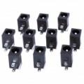 2,5 mm DC Power Jack conector - preto (Pack de 10 peças)