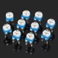 0.1 com 50V Horizontal 201 200 Ohm azul & branco ajustável Resistor - azul + branco (10 peças)