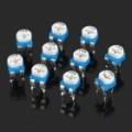 0.1 com 50V Horizontal 104 100 K Ohm azul & branco ajustável Resistor - azul + branco (10 peças)