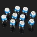 0.1 com 50V Horizontal 103 10 K Ohm azul & branco ajustável Resistor - azul + branco (10 peças)