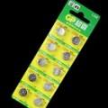 GP LR44 A76 1.5 v de célula de baterias botão 10-Pack