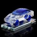 Carro de cristal modelo estilo Perfume garrafa recipiente - azul + transparente