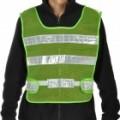 Verde claro refletor Stripe Mesh Tornozele-