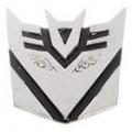 Alumínio liga Decepticon estilo carro adesivo - prata + preto