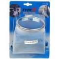 Bolsa de bolso aço inox fio organizador líquido armazenamento Soft portátil para veículos - azul